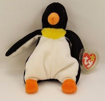 TY WADDLE the PENGUIN BEANIE BUDDY - MINT with MINT TAG Retired