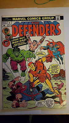 Defenders #9 Higher Grade vs Avengers Crossover 1973 Bronze Age Key Issue