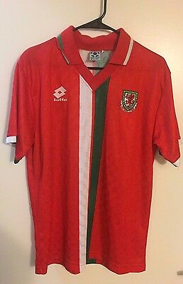 1996-1998  Wales Adult M retro rare football shirt jersey lotto soccer