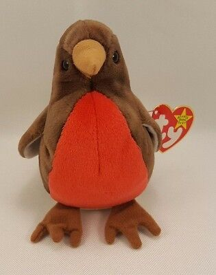 "TY Beanie Baby ""Early"" the robin DOB 1997 Look Adorable"