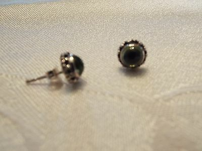 Silpada Sterling Silver and Peridot Earrings on posts .925