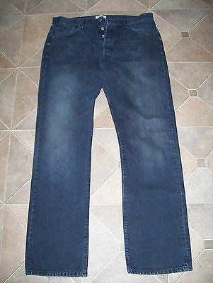 LEVI 501 STRAIGHT LEG BUTTON FLY MENS JEANS 36 x 34