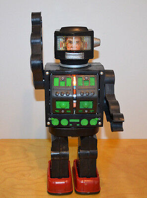 Vintage Japanese Super Moon Explorer Robot Toy Battery Operated 1970's Sci-Fi