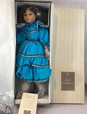 """NEW in BOX Doll Collection Porcelain doll """"Marisa"""" 20 Inches"""
