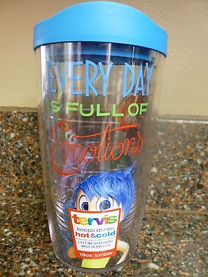 Disney Inside Out Tervis Hot or Cold Cup 16 oz Tumbler Sliding Lid Brand New