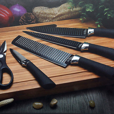 Kcasa 6pcs |Kitchen Knife Set| Stainless Steel Chef Carving Cleaver Utility NEW