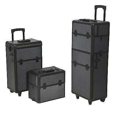 Best Choice Products Rolling Cosmetic Makeup Case 2 in 1 Make up Artist Case NEW
