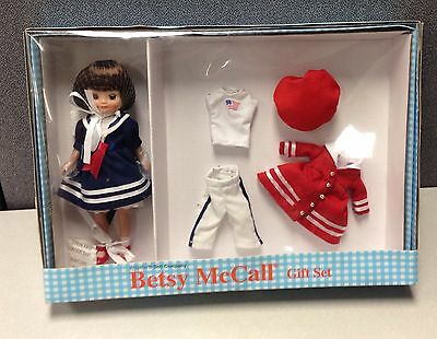 """TONNER TINY BETSY MCCALL """"RED, WHITE AND BETSY GIFT SET""""  8"""" Doll  NRFB"""