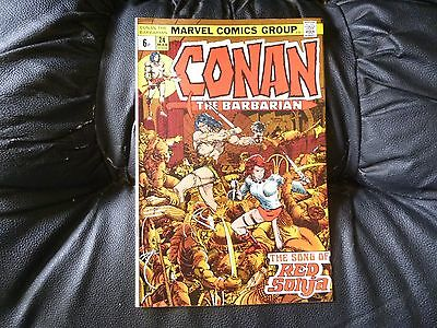 Conan the Barbarian # 24 really nice condition Barry Smith Red Sonja co stars