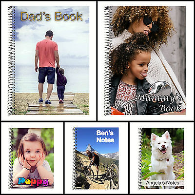 Personalised Notebook - Custom Photo Cover in A4, A5 and A6