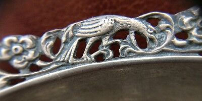 Antique Victorian Hallmarked 1847 Solid Silver Cigar Ashtray Old Box Repousse