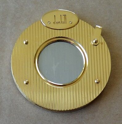 VINTAGE 1960's - DUNHILL CIGAR CUTTER GOLD PLATED METAL - BLACK FIOCCHI WALLET