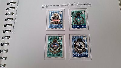 Ascension Island 1971 Sg 149-152 Royal Naval Crests (3Rd Series). Fine Used