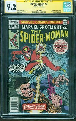 Marvel Spotlight 32 CGC SS 9.2 Stan Lee Signed 1st Spider Woman Kane Buscema no8