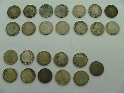 France Louis Xv Full Ecu Collection 25 Coins Silver