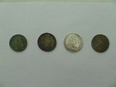 France Louis Xiv 14 Full Ecu Collection 1653 1701 1711 Silver