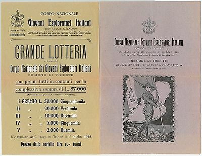61450 -  ITALY -  Booklet issued by BOY SCOUTS frof  LOTTERY DRAW 1922 Trieste