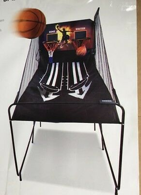 New Arcade Basketball Game Double Shot System Hoop Rings Electronic Score