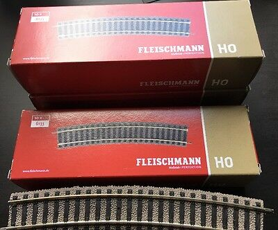 FLEISCHMANN HO 6133 R4 Curve Track. Pack Of 10 Pieces