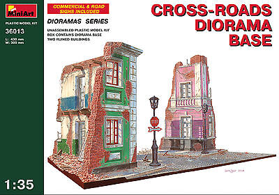 Cross-roads diorama base     1/35 MiniArt   # 36013