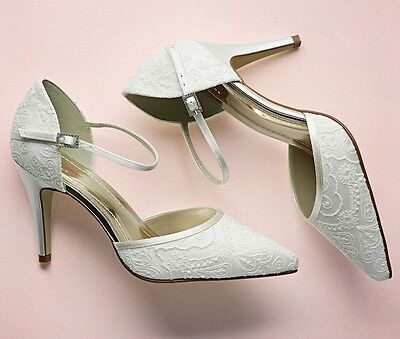Rainbow Club 'Tierney' Vintage Ivory Lace Wedding Part Prom Shoes Size 6.5 BNIB
