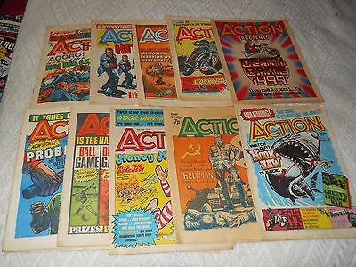 Action Comic UK Published. 10 x editions all from 1976 - All Complete.