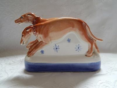 "Vintage Rye Pottery ""the Hounds"" From Canterbury Tales Series"