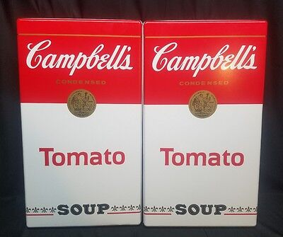 """CAMPBELL'S TOMATO SOUP ~  STOVE ~ BURNER COVERS SET OF 2 ~ 20"""" x 11.5"""" ~ NEW!"""