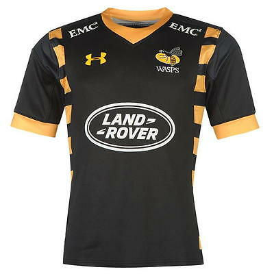 Under Armour London Wasps Home Rugby Shirt Top Jersey 2016/2017 Mens Small YXXL