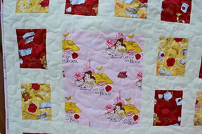 Disney's Beauty and the Beast Belle handmade quilt for baby/toddler