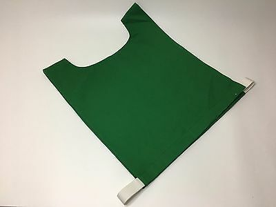 Cotton Sports Training Bibs in Green - Netball / Football / Rugby - Free P&P