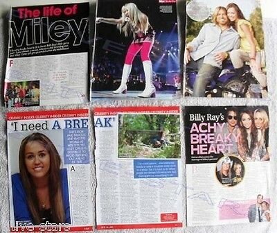 Miley Cyrus magazine clippings overseas set music pop celebrity import Lot