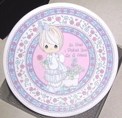 """Precious Moments 1990 """"So glad i picked you as a friend"""" collectible 4"""" plate"""
