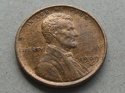 USA, Lincoln Cent, 1909-S VDB,  in Great Condition.