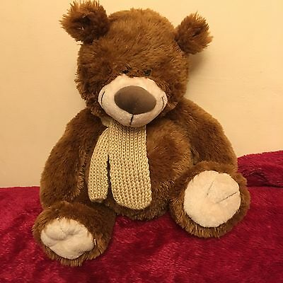 Chad Valley Brown Teddy Bear With Own Scarf