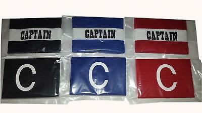 Captains Armband for Football, Rugby, Hockey. Adult Senior & Junior Kids Sizes