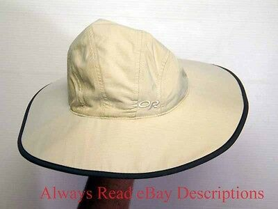 OUTDOOR RESEARCH SUN HAT  98%+++ UPF 30 Nylon Chin Strap White Packable - Small