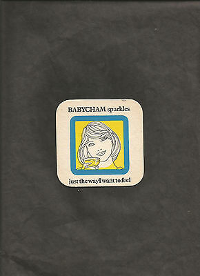 Vintage BABYCHAM SPARKLES JUST THE WAY I WANT TO FEEL BAR COASTER BAR MAT