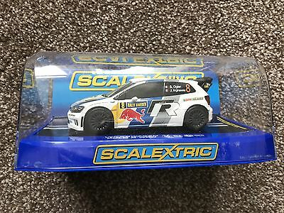 Scalextric C3525 Vw Polo R Wrc #8 Rally Sweden 2013 Red Bull Dpr  Bnib