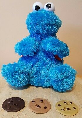 Sesame Street Count 'n Crunch COOKIE MONSTER with ALL 3 COOKIES. Hasbro. Rare