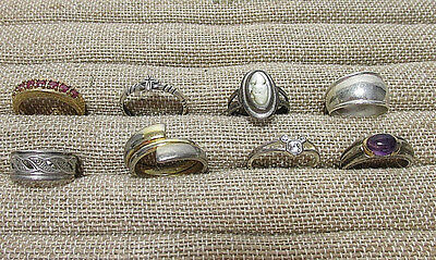 8 PC Sterling Silver 925 Jewelry Ring Lots C