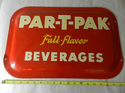 Vintage Advertising Sign- 1946 Par-T-Pak Beverages Sign- Vintage Drive-In- Diner