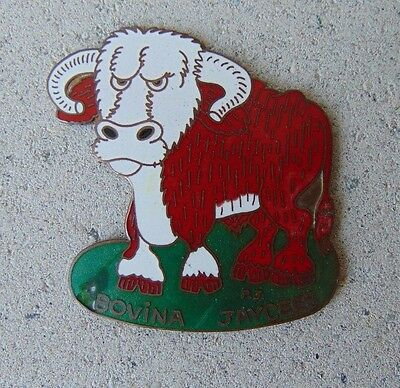 Vintage Bovina Texas Jaycees Factory Proof Pin