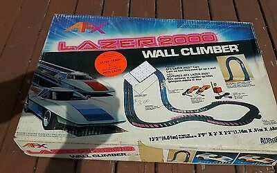 Aurora AFX Lazer 2000 wall climber slot car race set in box.  Tested and working