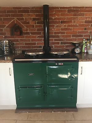 AGA Cooker - 2 Oven, Racing Green, Oil Fired, Dismantled