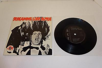 "SCREAMING LORD SUTCH & THE SAVAGES EP 1980 ACE 7"" UK 1st PRESS, P/S - UNPLAYED"