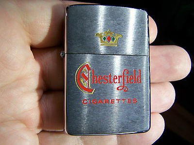 Vintage Zippo Chesterfield Lighter 1958 With Box And Original Instructions