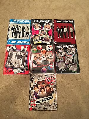 Office Depot One Direction 1D Spiral notebooks And Stickers Lot Of 7