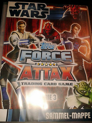 Star Wars Force Attax Serie 3 Sammelmappe mit 225 Sammelkarten Trading Cards