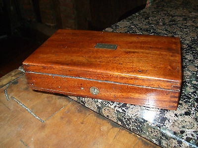Antique 19C Lovely Quality Solid Mahogany Box Superb Colour